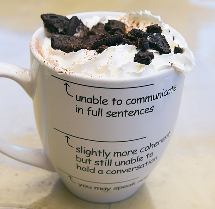 close-up photo of an Oreo Latte