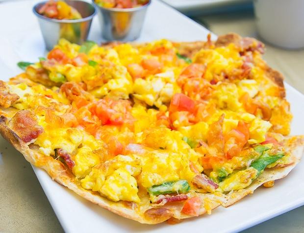 close-up of a Breakfast Quesadilla