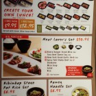 photo of the menu at Gyu-Kaku