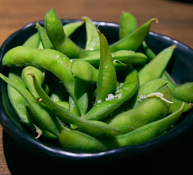 photo of a bowl of edamame