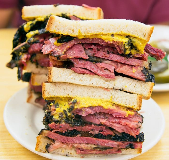 photo of two pastrami sandwiches
