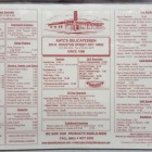 photo of the menu at Katz's Deli
