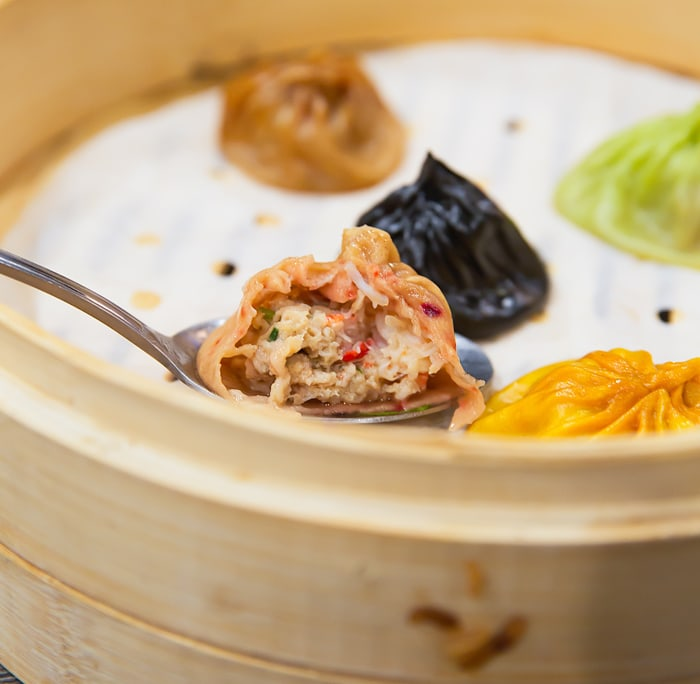 close-up photo of a Five Guys Xiao Long Bao
