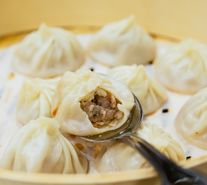 close-up photo of a Pork Xiao Long Bao