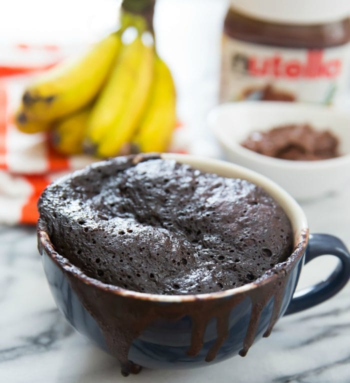 flourless nutella banana mug cake photo