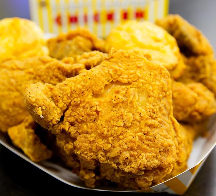 close-up photo of cajun-style Krispy chicken