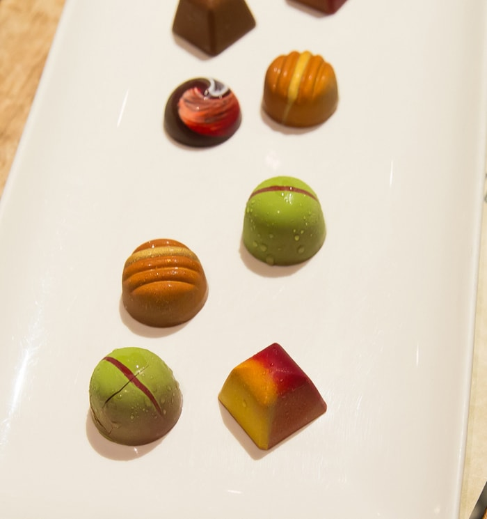 photo of plate of chocolates