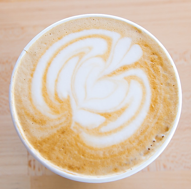 overhead photo of Curry Ginger Latte