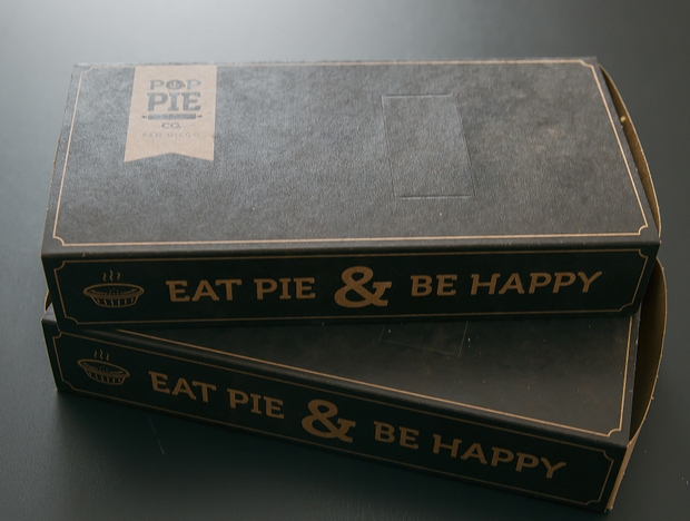 photo of two pie boxes