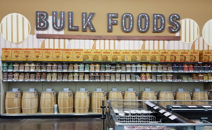 photo of the bulk foods section