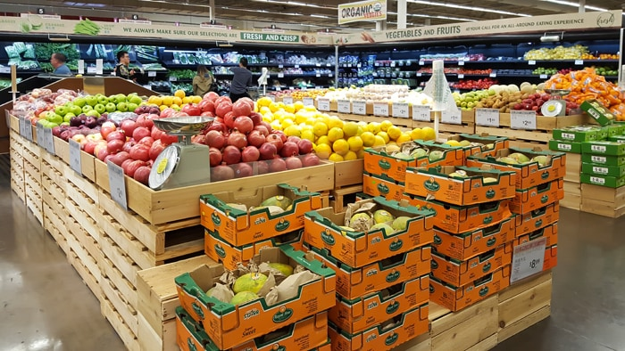 photo of the produce section