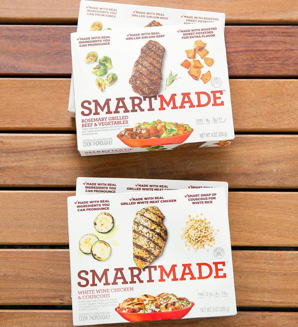 overhead photo of packages of SmartMade™ Meals