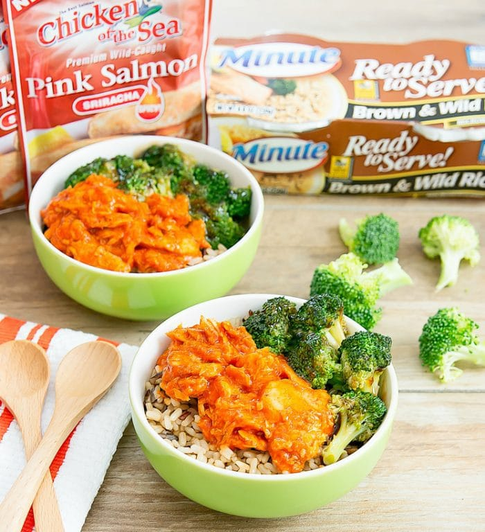 photo of Sriracha Salmon & Teriyaki Broccoli Bowls
