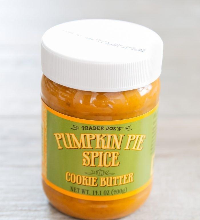 photo of a jar of Pumpkin Pie Spice Cookie Butter