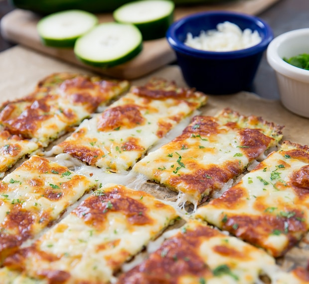 sliced zucchini breadsticks