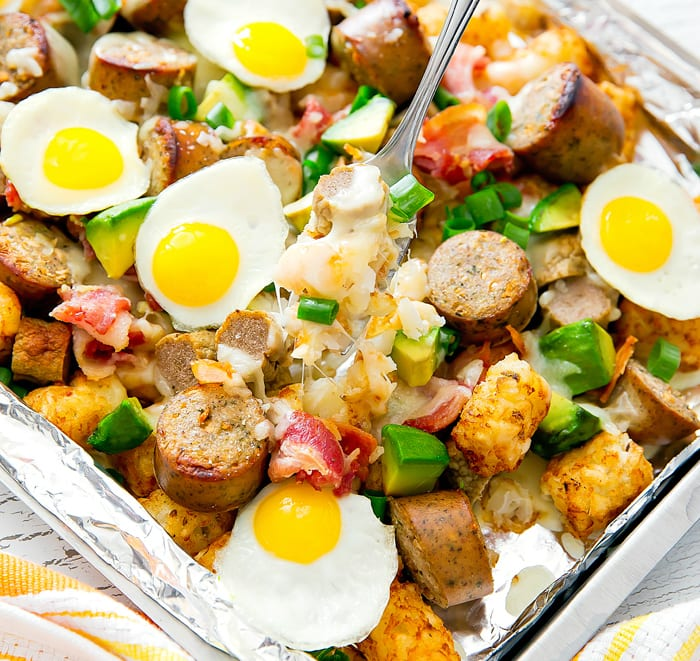 Loaded Breakfast Tater Tots