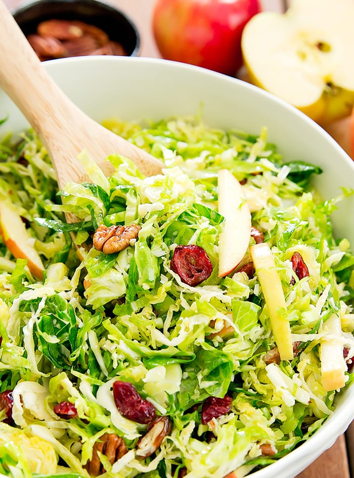 close-up photo of Shaved Brussels Sprouts Salad