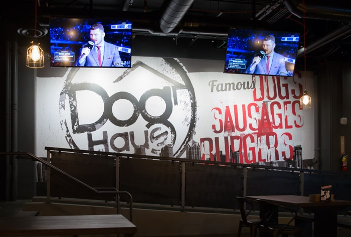 photo of the inside of Dog Haus