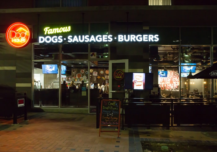photo of the outside of Dog Haus San Diego