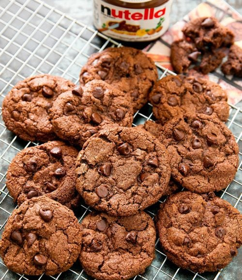 4 Ingredient Flourless Nutella Cookies