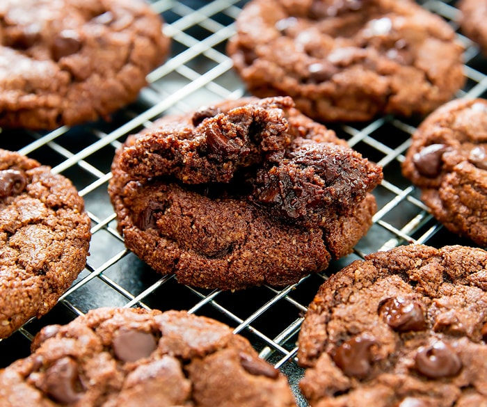 close-up photo of a Flourless Nutella Cookies