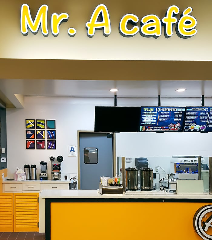 photo of Mr A Cafe order counter
