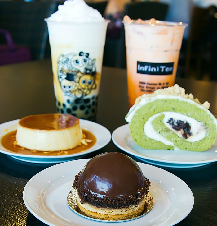 Peggy's Kitchen desserts at Infini Tea
