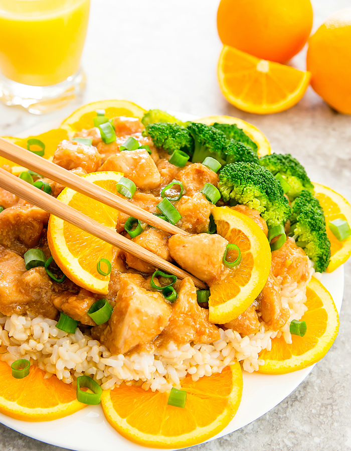 Slow Cooker Orange Chicken - Kirbie's Cravings