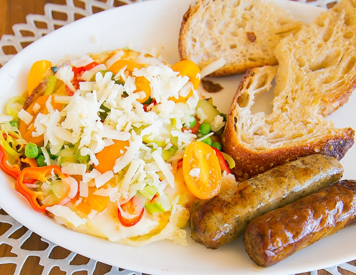photo of the egg dish with sausage