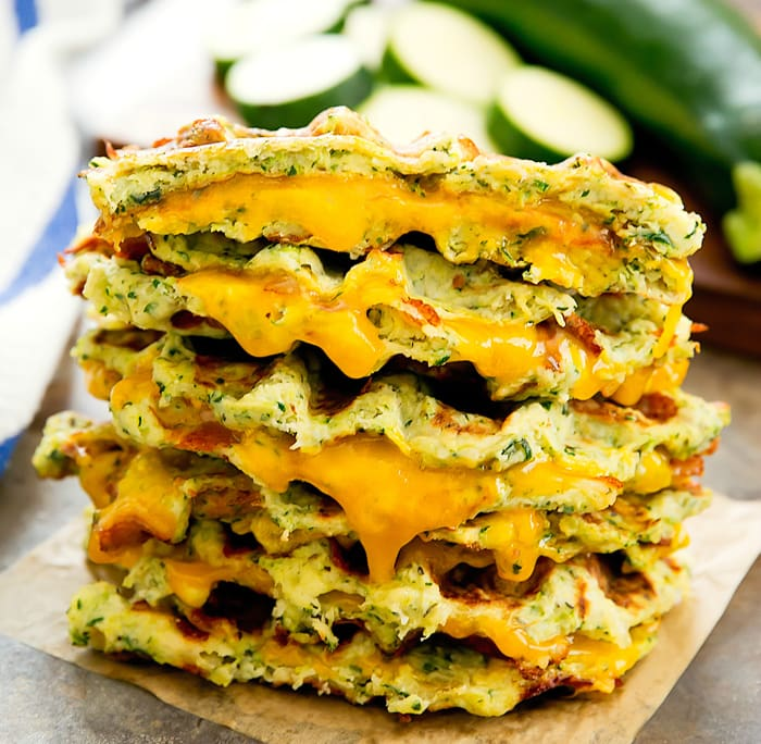 photo of Zucchini Waffle Grilled Cheese Sandwiches