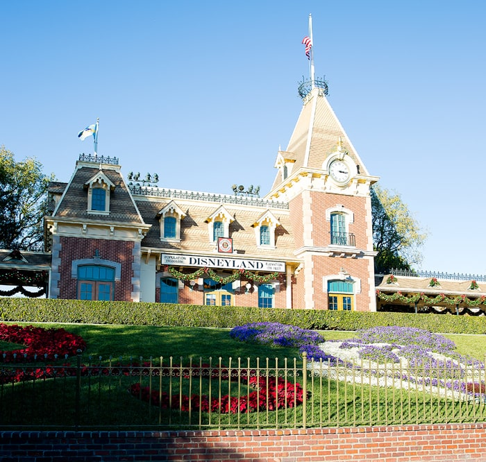 photo of the train station at Disneyland