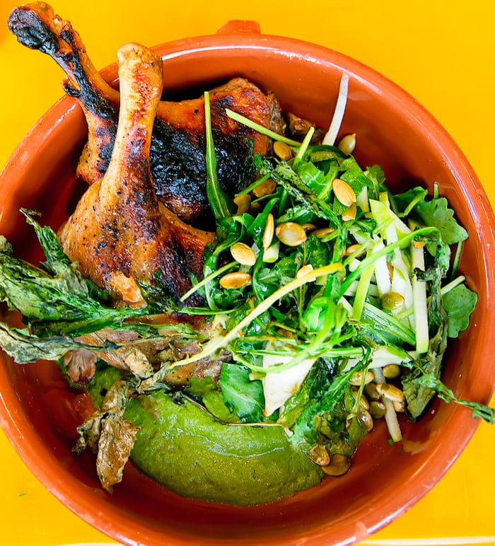 Braised and Wood Grilled Duck Legs