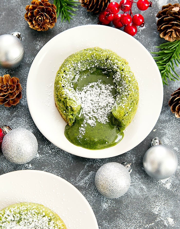 Matcha Green Tea Molten Lava Cakes