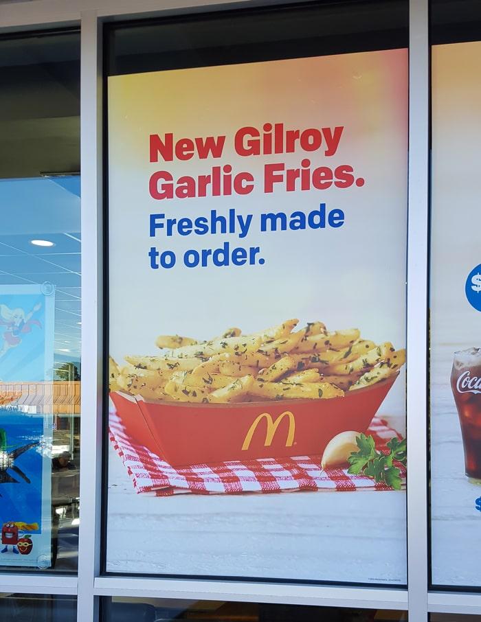 McDonald's Gilroy Garlic Fries