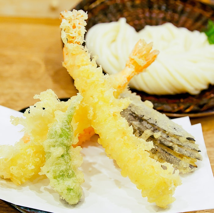 close-up photo of tempura