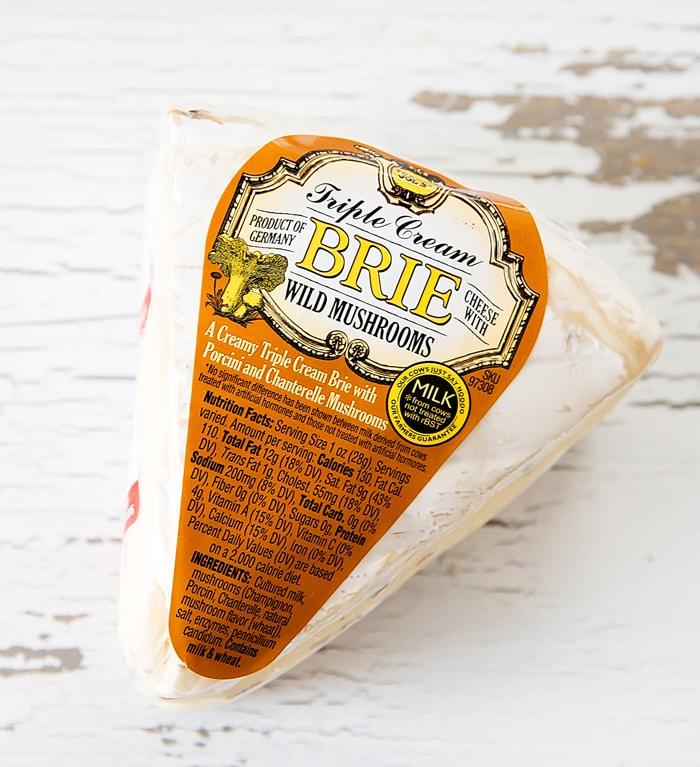 photo of a package of Double Crème Brie with Truffles