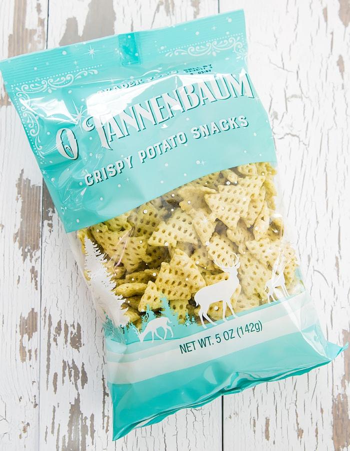 photo of a package of O Tannenbaum Crispy Potato Snacks