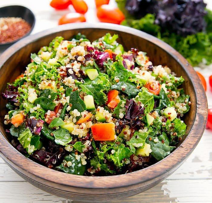 close-up photo of Kale Quinoa Salad