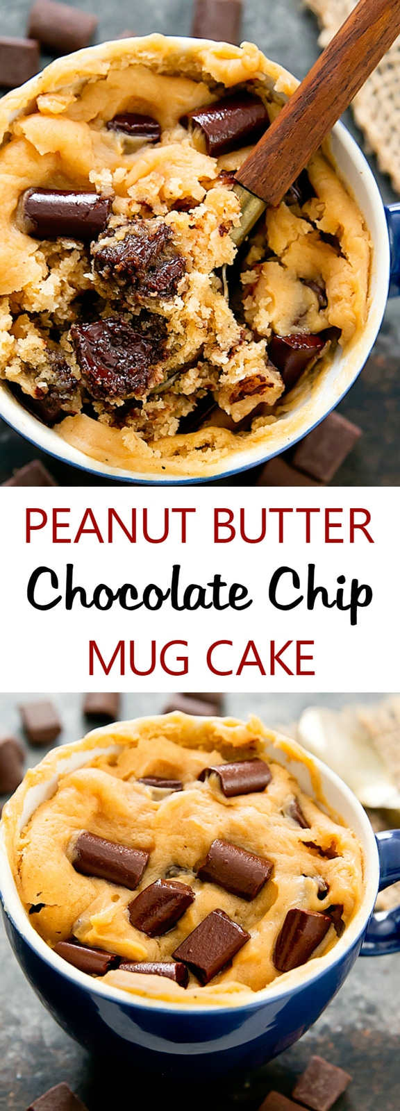 Peanut Butter Chocolate Chip Mug Cake - Kirbie's Cravings