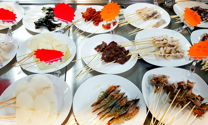 photo of more skewers at Private Kitchens
