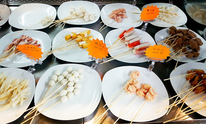 photo of other skewer options at Private Kitchens