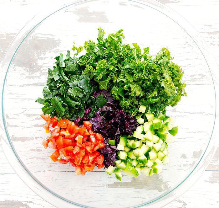 photo of the ingredients for the salad in a bowl