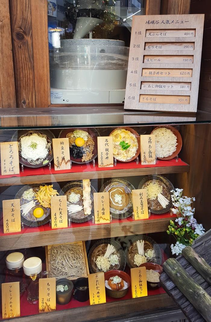photo of a display at Sagatani