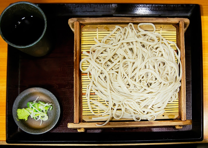 Traditional Cold Soba with Soybean Sauce