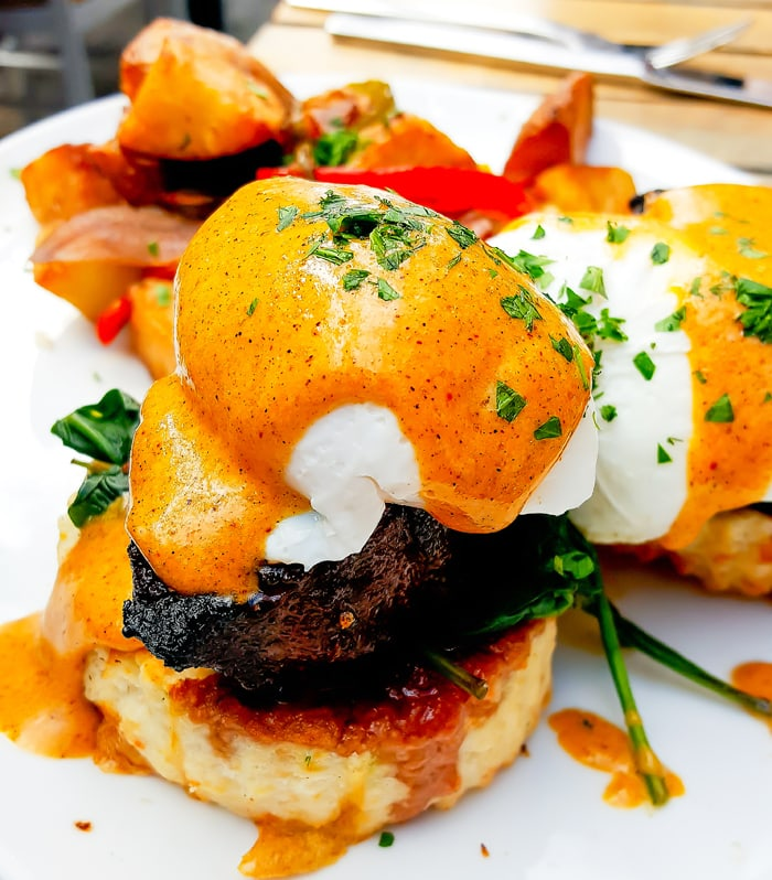 Hanger Steak Eggs Benedict