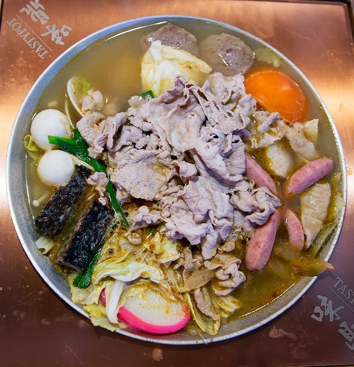 overhead photo of Stinky Tofu Hot Pot