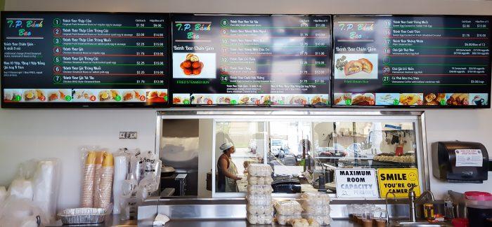 photo of the menu at T.P. Banh Bao 3