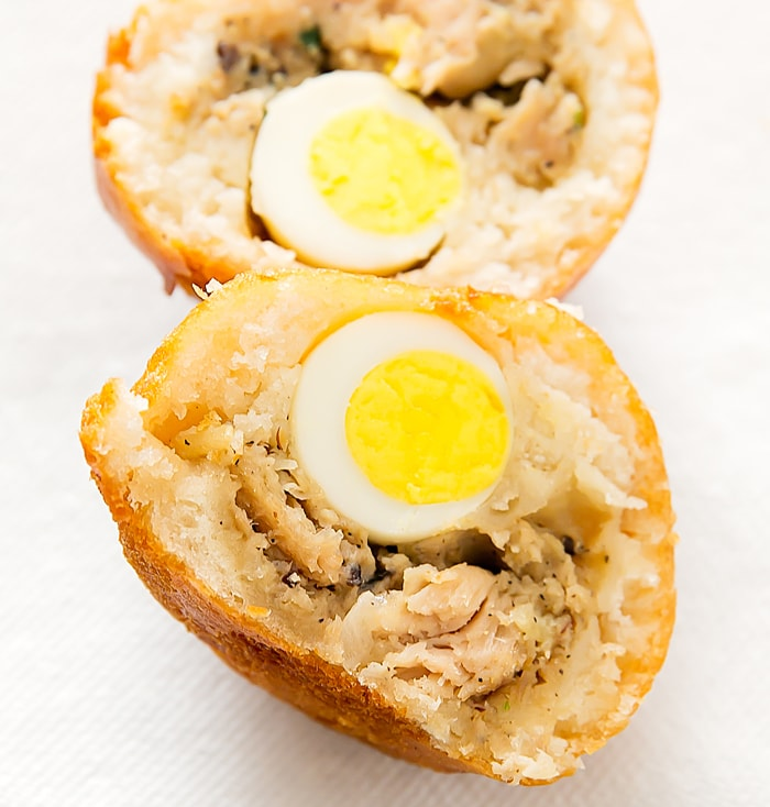 Chicken with quail egg