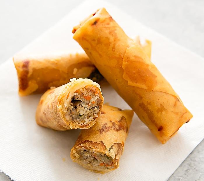Chả giò (Vietnamese pork egg rolls)