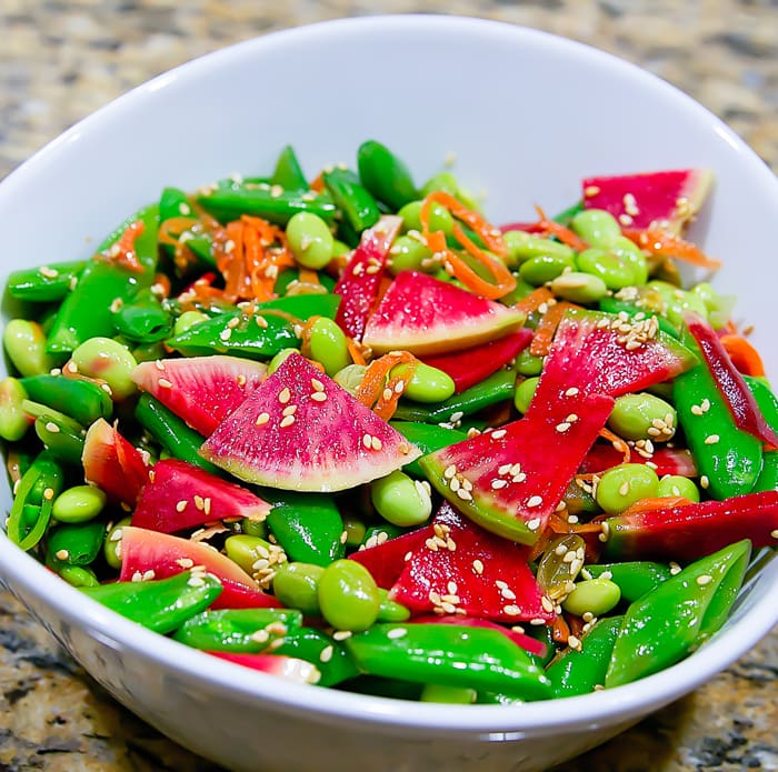 photo of Edamame Snap Pea Salad with Sesame Dressing